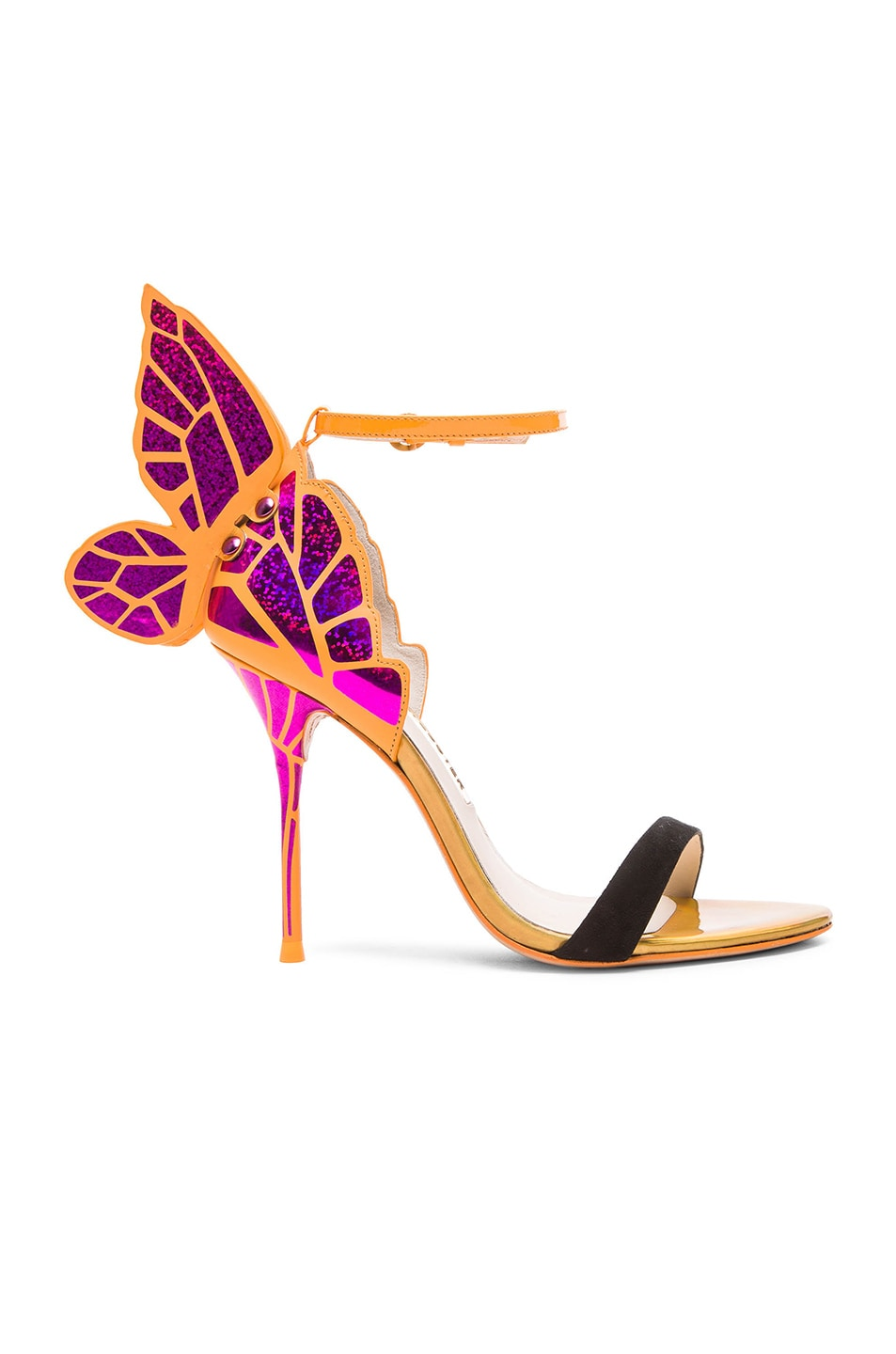 Image 1 of Sophia Webster Chiara Leather Heels in Fuchsia