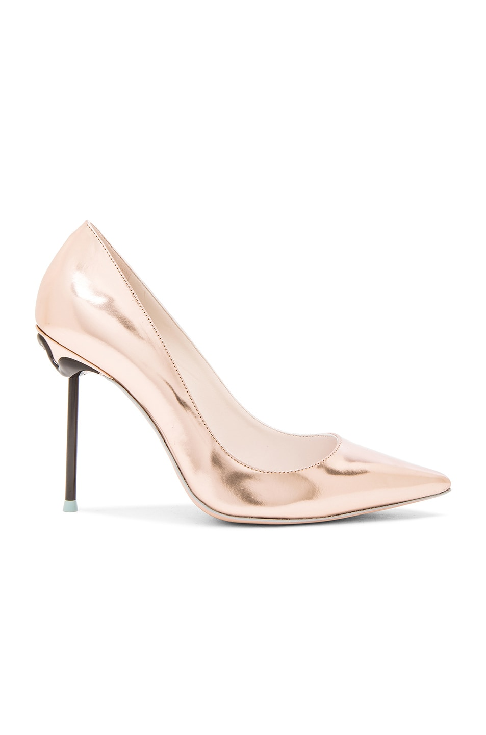 Image 1 of Sophia Webster Coco Flamingo Leather Heels in Rose Gold