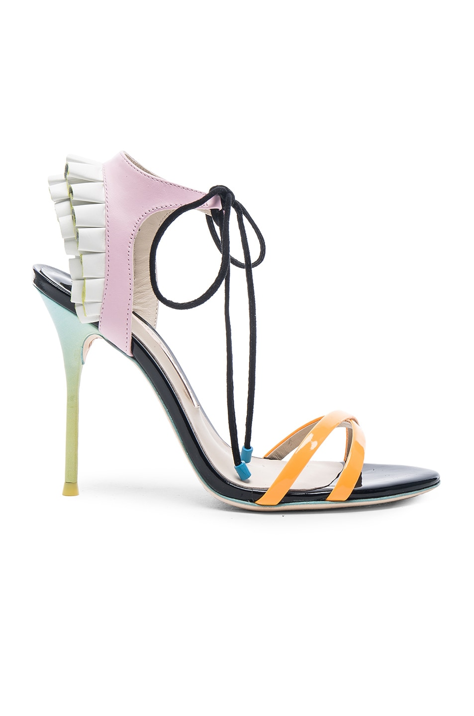 Image 1 of Sophia Webster Leather Maribel Frill Heels in Multi