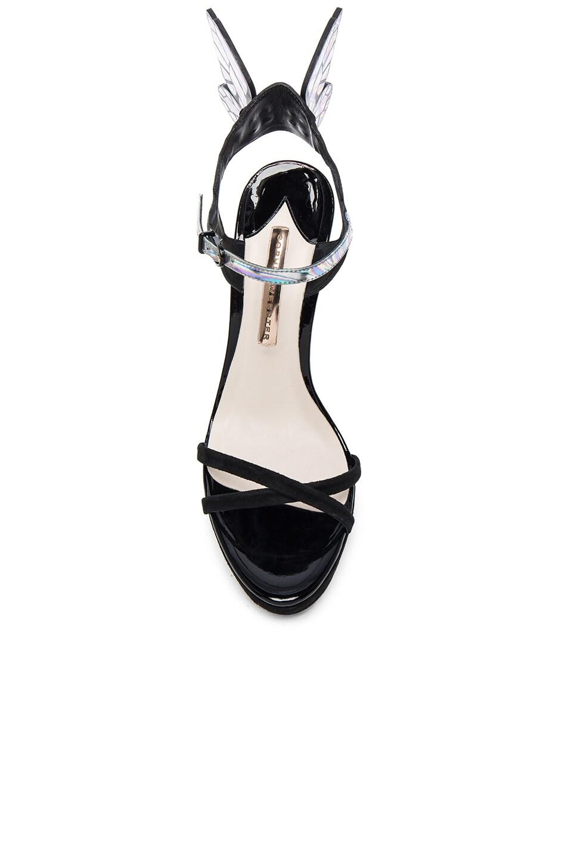 Image 4 of Sophia Webster Suede Chaira Platform Heels Iridescent in Black