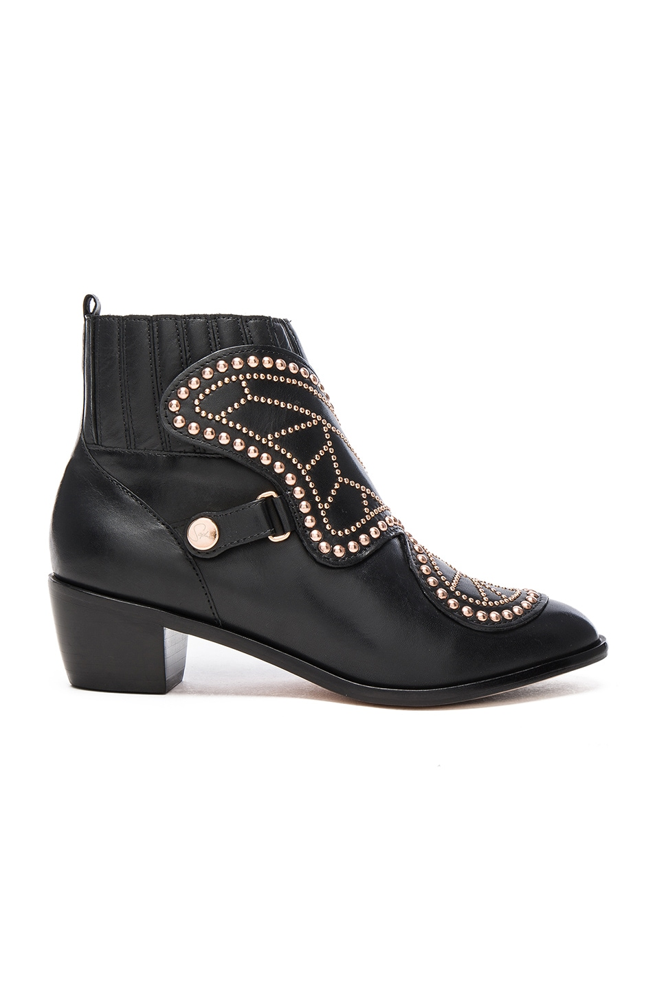 Image 2 of Sophia Webster Karina Butterfly Boots in Black