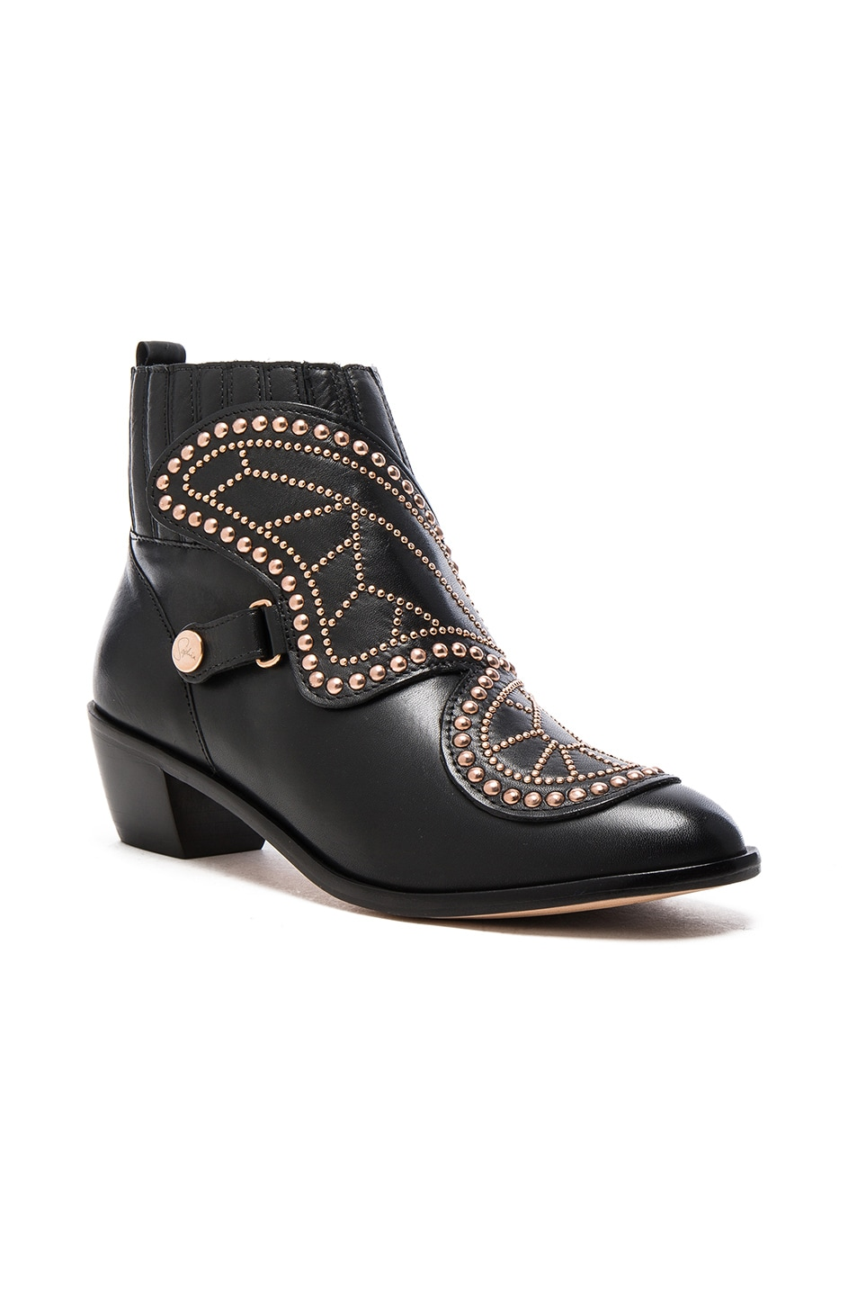 Image 3 of Sophia Webster Karina Butterfly Boots in Black