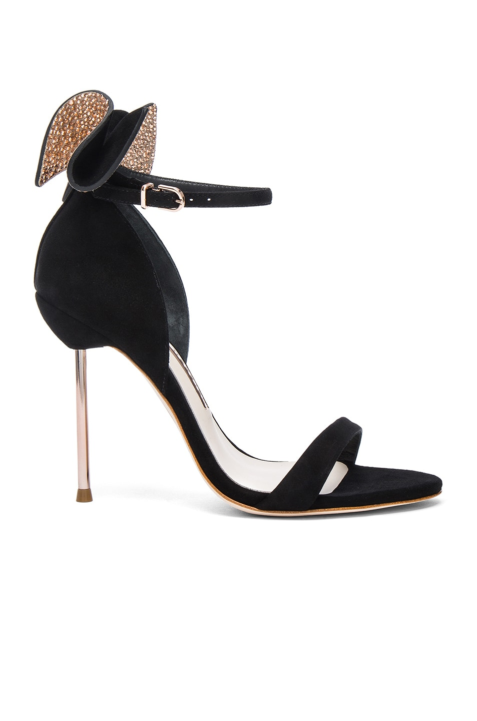 Image 1 of Sophia Webster Suede Maya Heels in Black