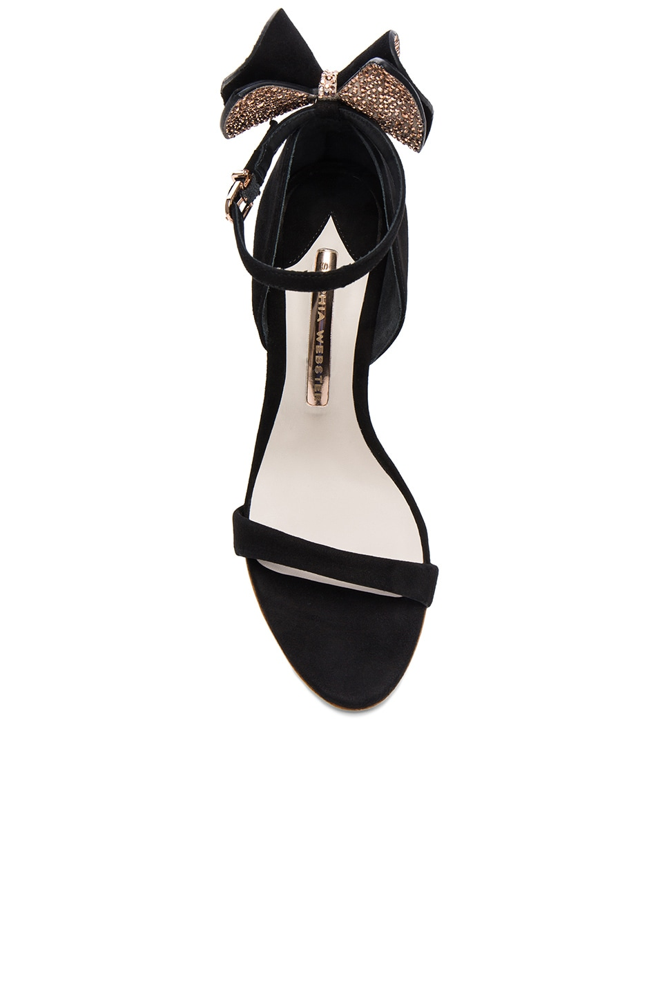 Image 4 of Sophia Webster Suede Maya Heels in Black