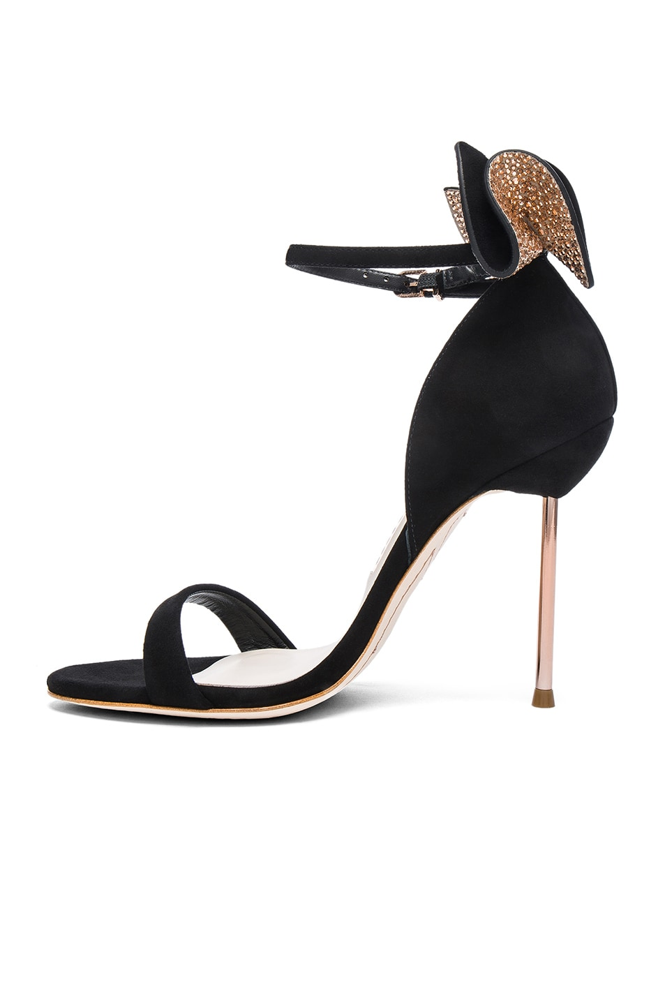 Image 5 of Sophia Webster Suede Maya Heels in Black