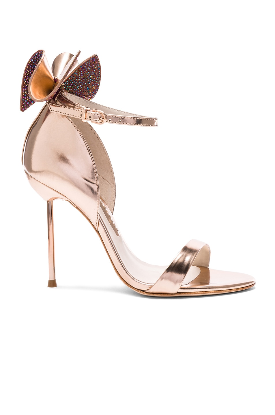 Image 1 of Sophia Webster Leather Maya Heels in Rose Gold