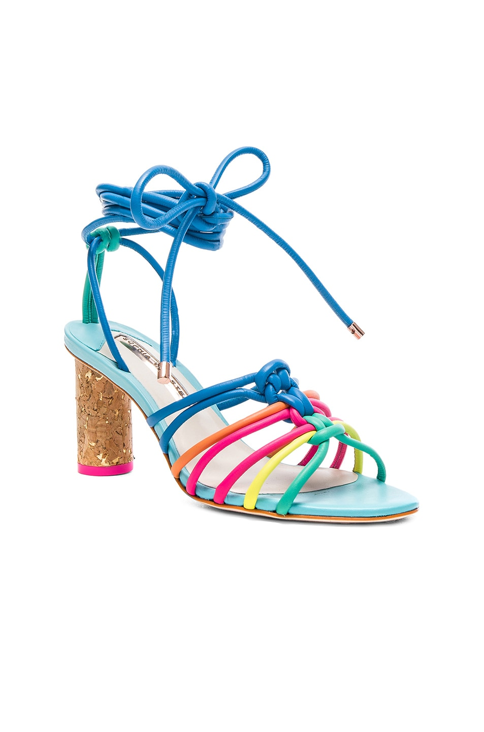 Image 2 of Sophia Webster Leather Copacabana Mid Sandals in Blue