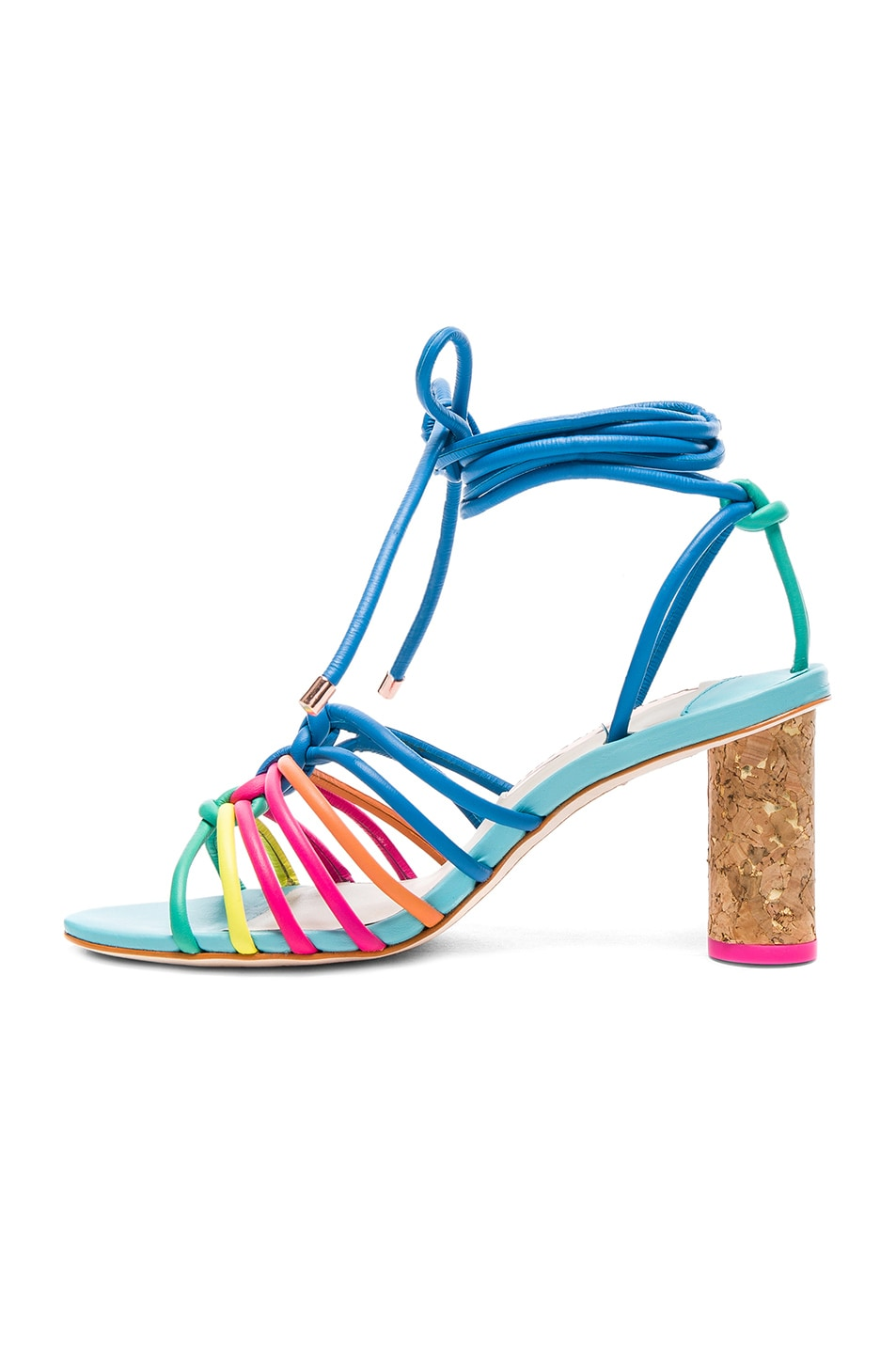 Image 5 of Sophia Webster Leather Copacabana Mid Sandals in Blue