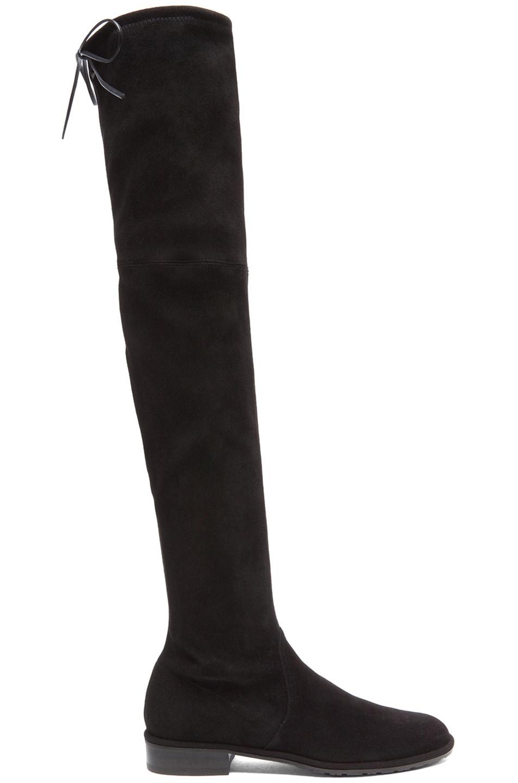 Image 1 of Stuart Weitzman Lowland Suede Boots in Black