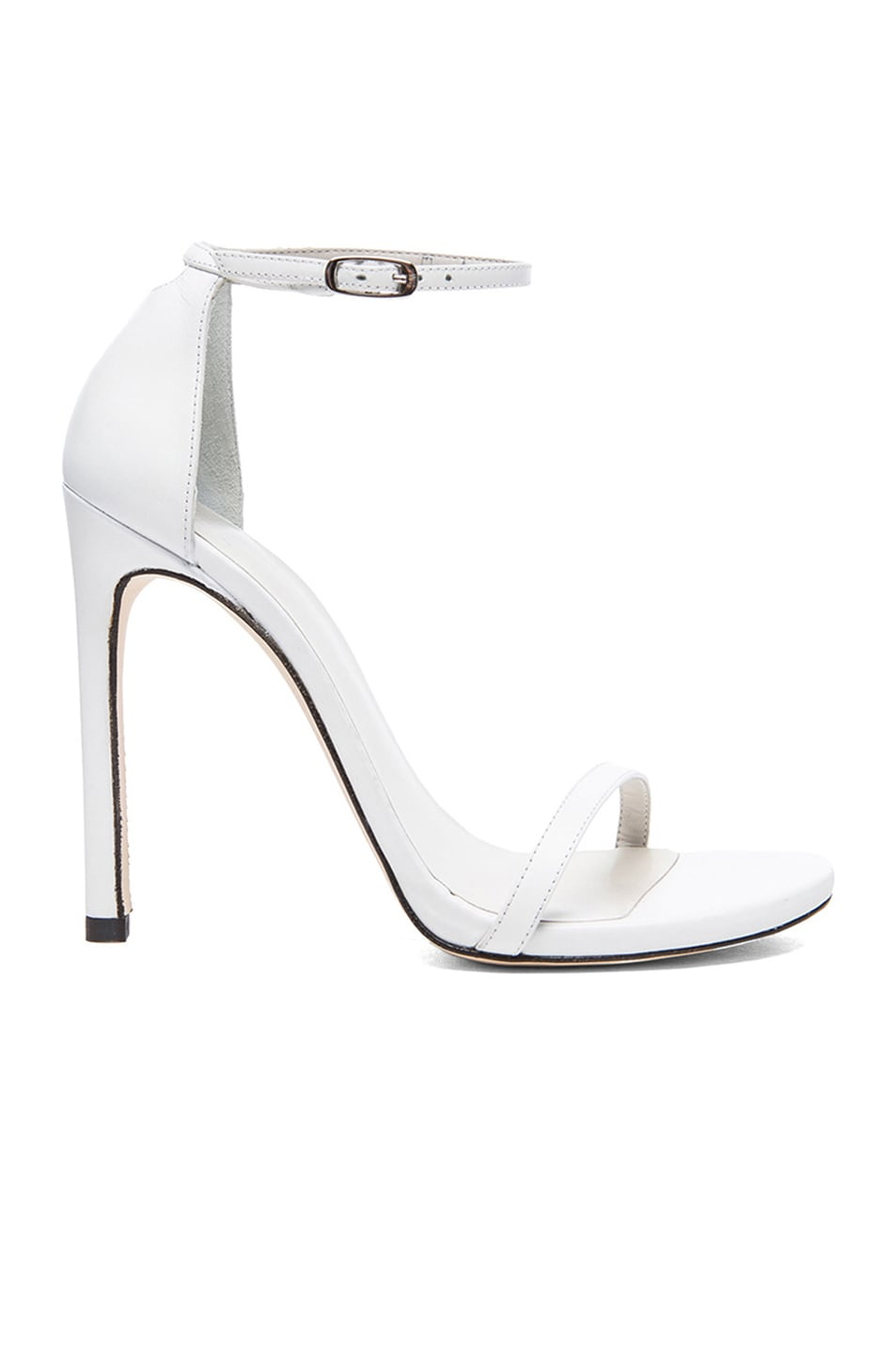 Image 1 of Stuart Weitzman Nudist Heels in White Leather