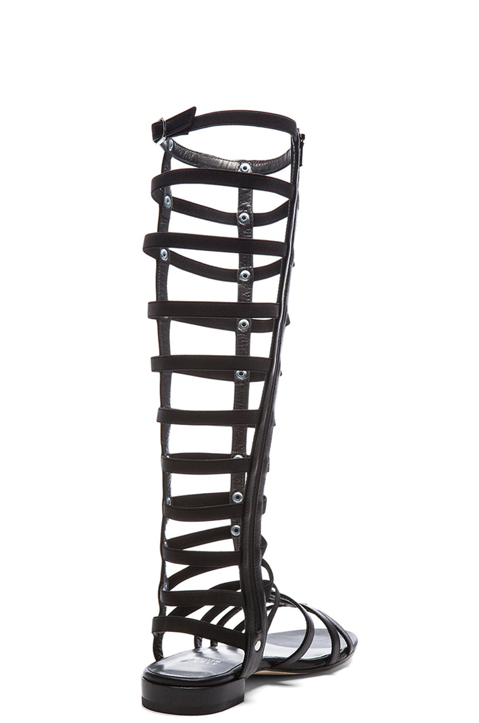 Image 3 of Stuart Weitzman Nappa Leather Gladiator Sandals in Black