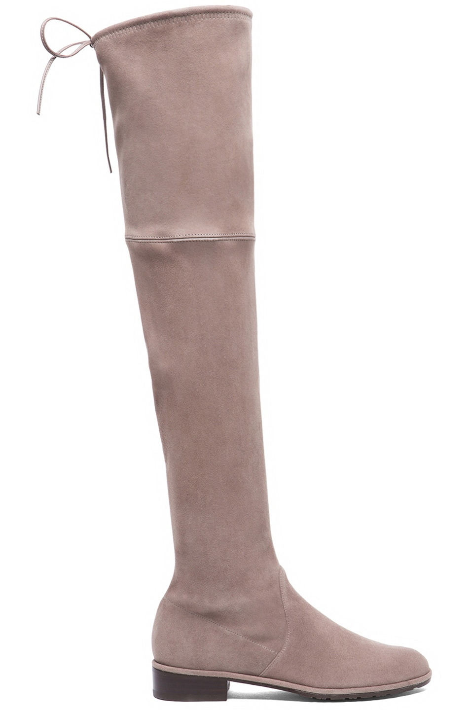 Image 1 of Stuart Weitzman Lowland Suede Boots in Taupe