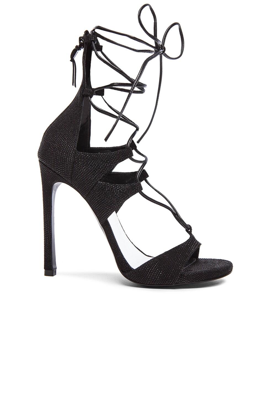 Image 1 of Stuart Weitzman Legwrap Nappa Heels in Black