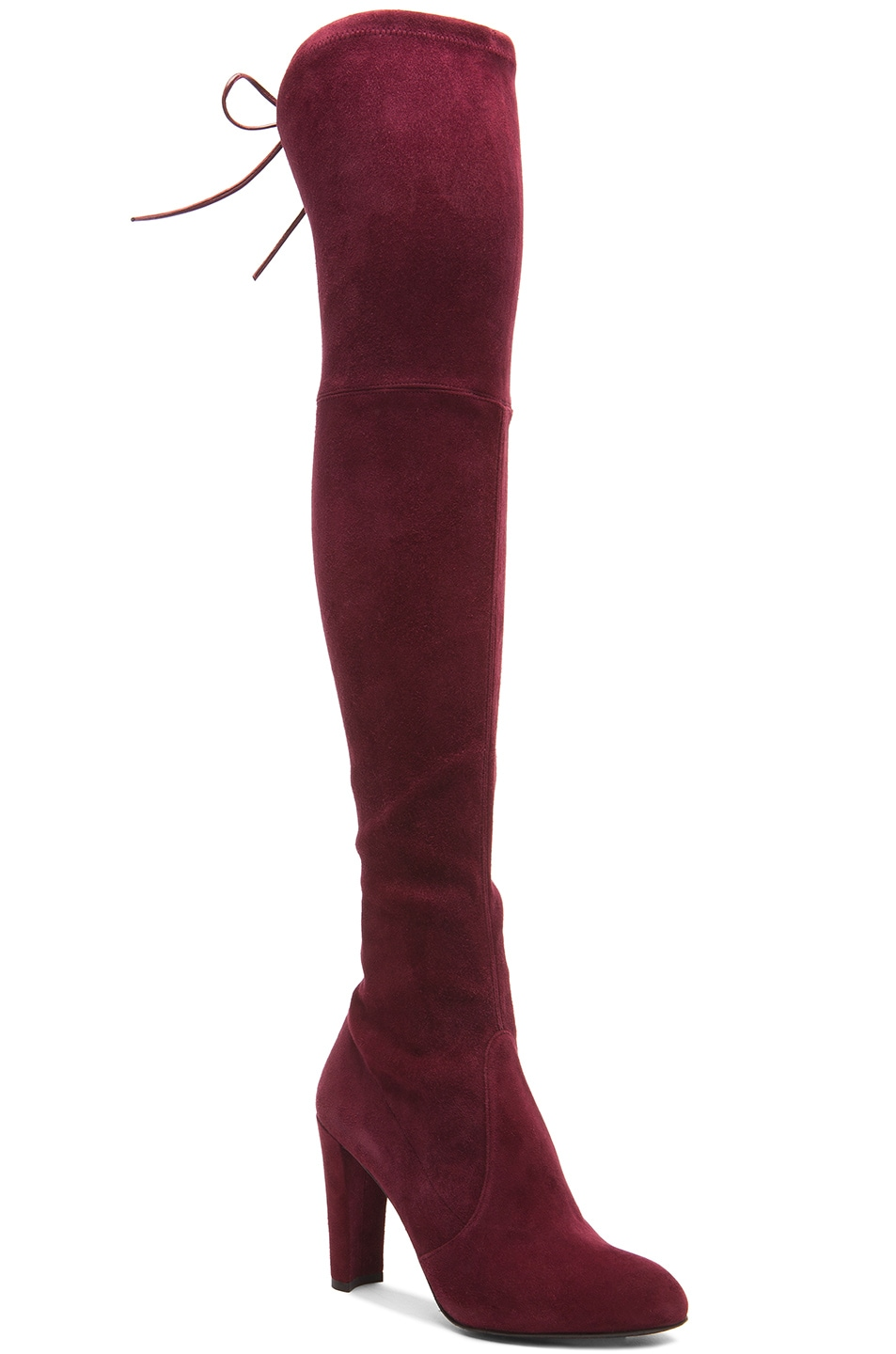 Image 2 of Stuart Weitzman Highland Suede Boots in Bordeaux Suede