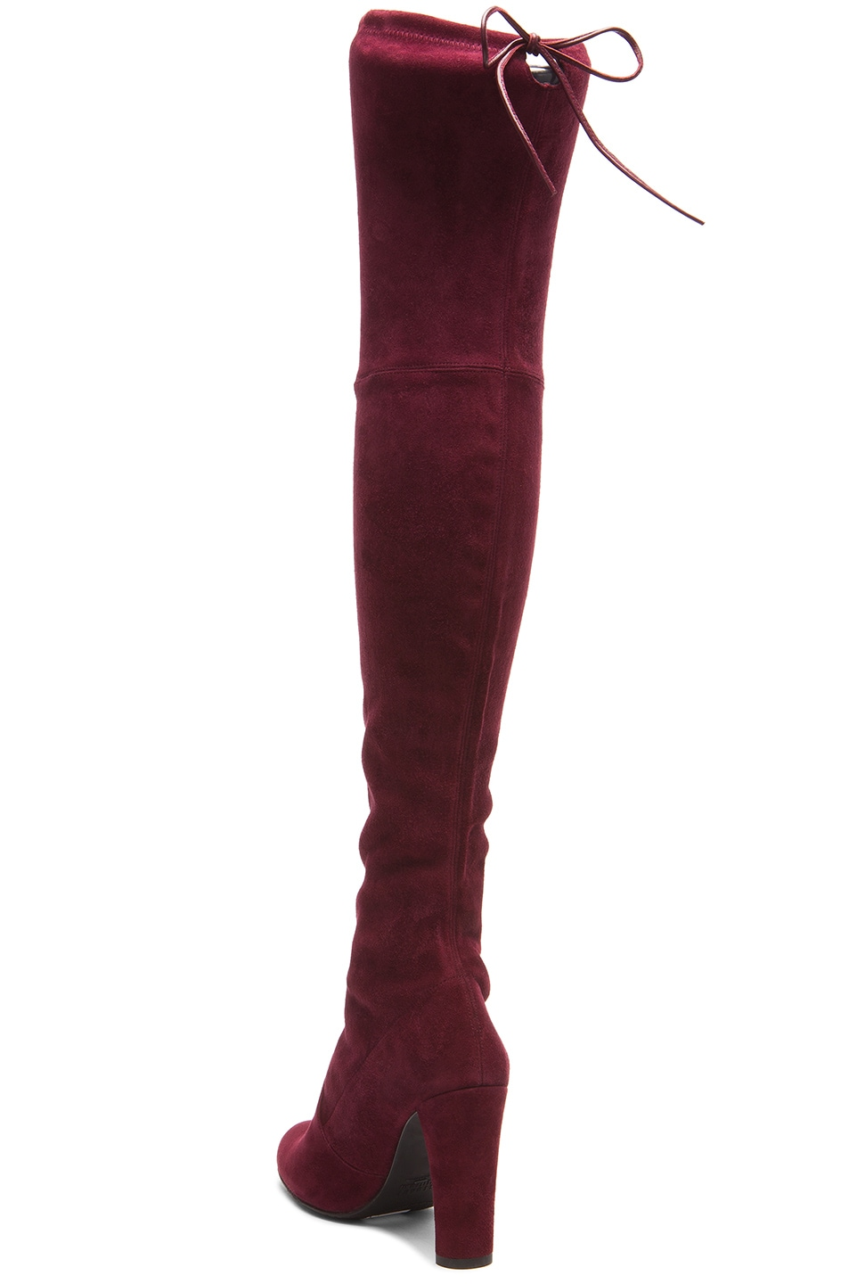 Image 3 of Stuart Weitzman Highland Suede Boots in Bordeaux Suede