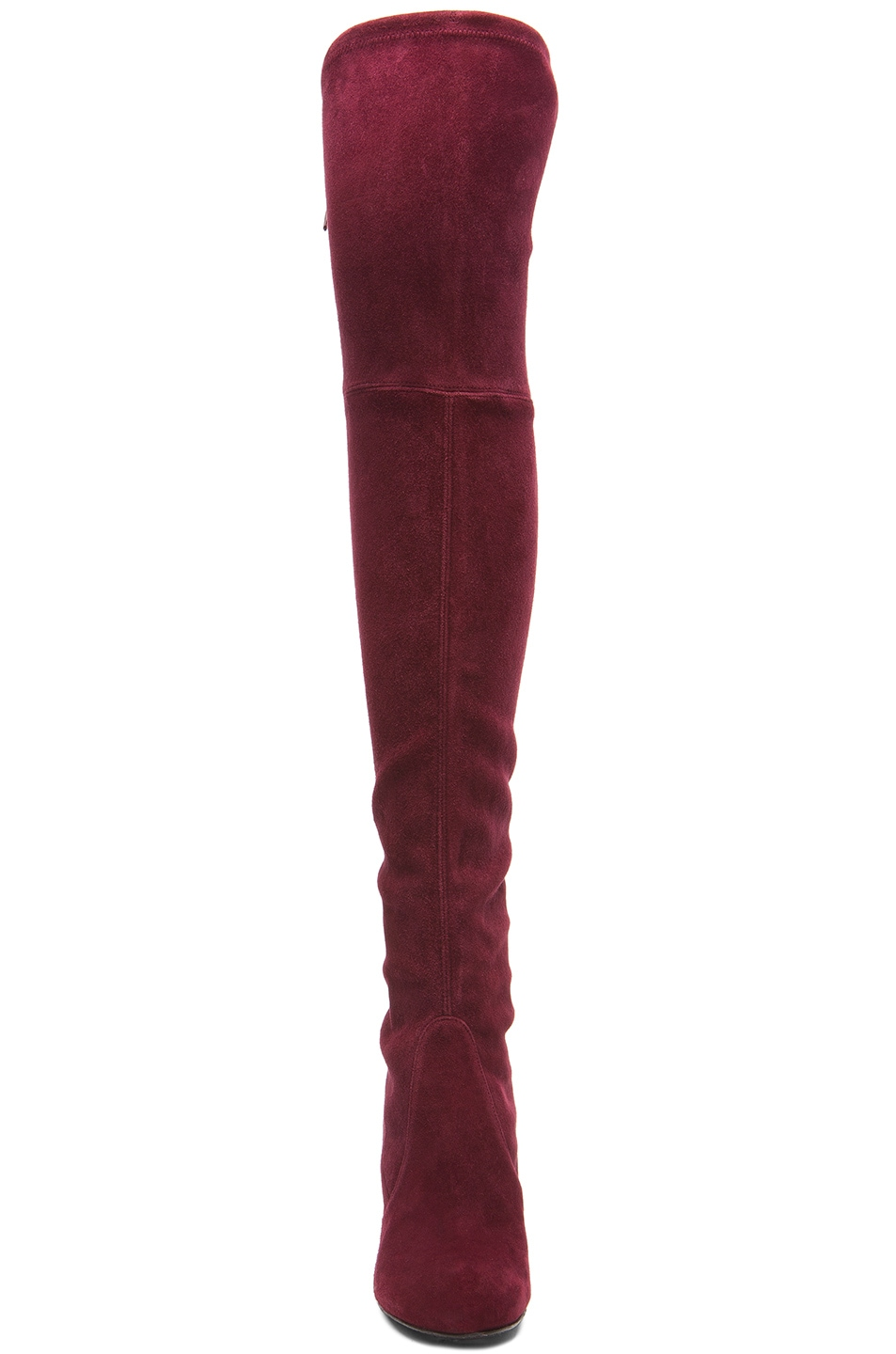 Image 4 of Stuart Weitzman Highland Suede Boots in Bordeaux Suede