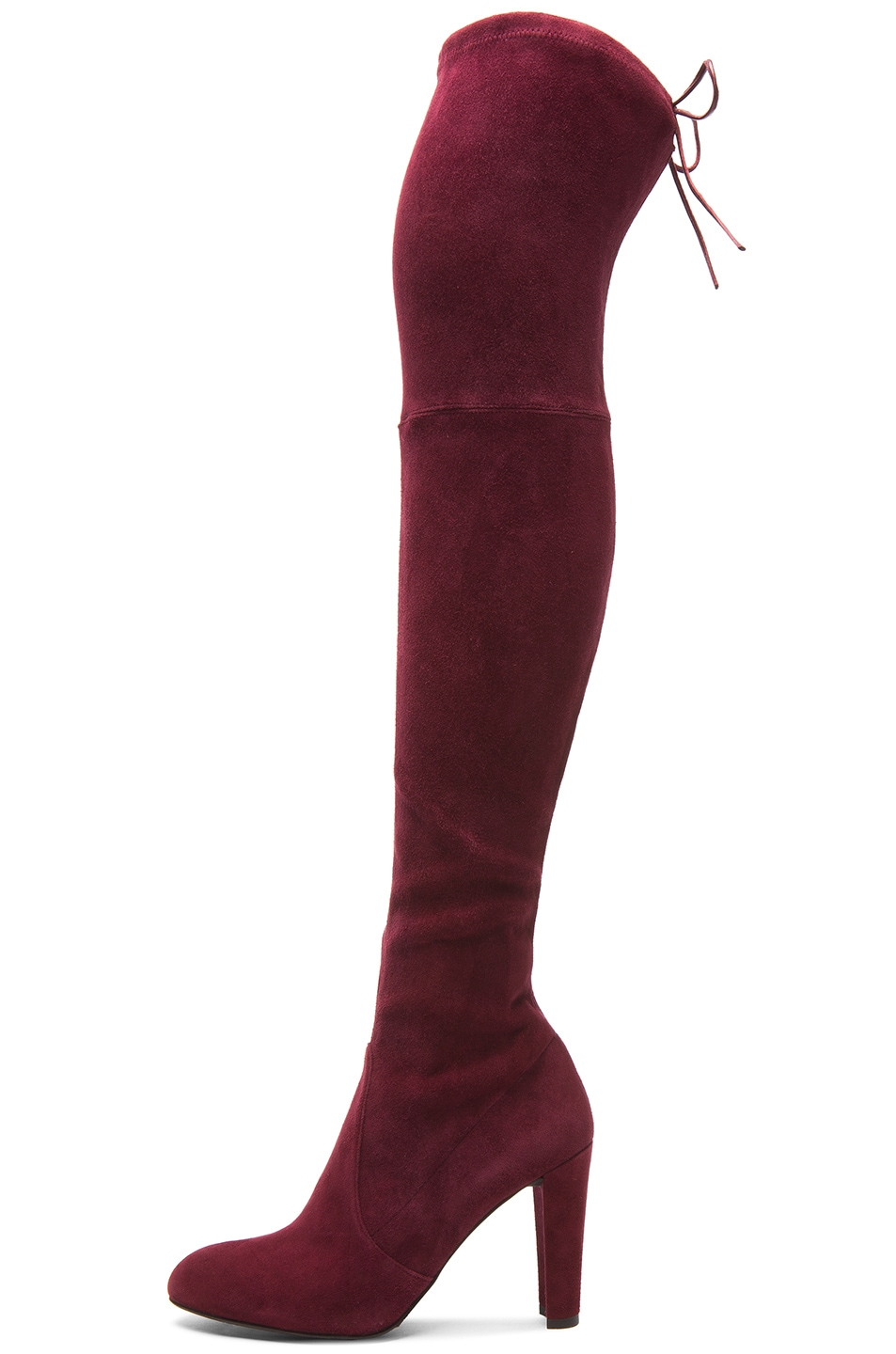 Image 5 of Stuart Weitzman Highland Suede Boots in Bordeaux Suede