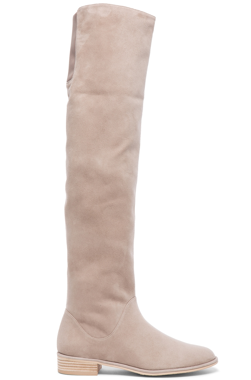 Image 1 of Stuart Weitzman Rockerchic Suede Boots in Fossil