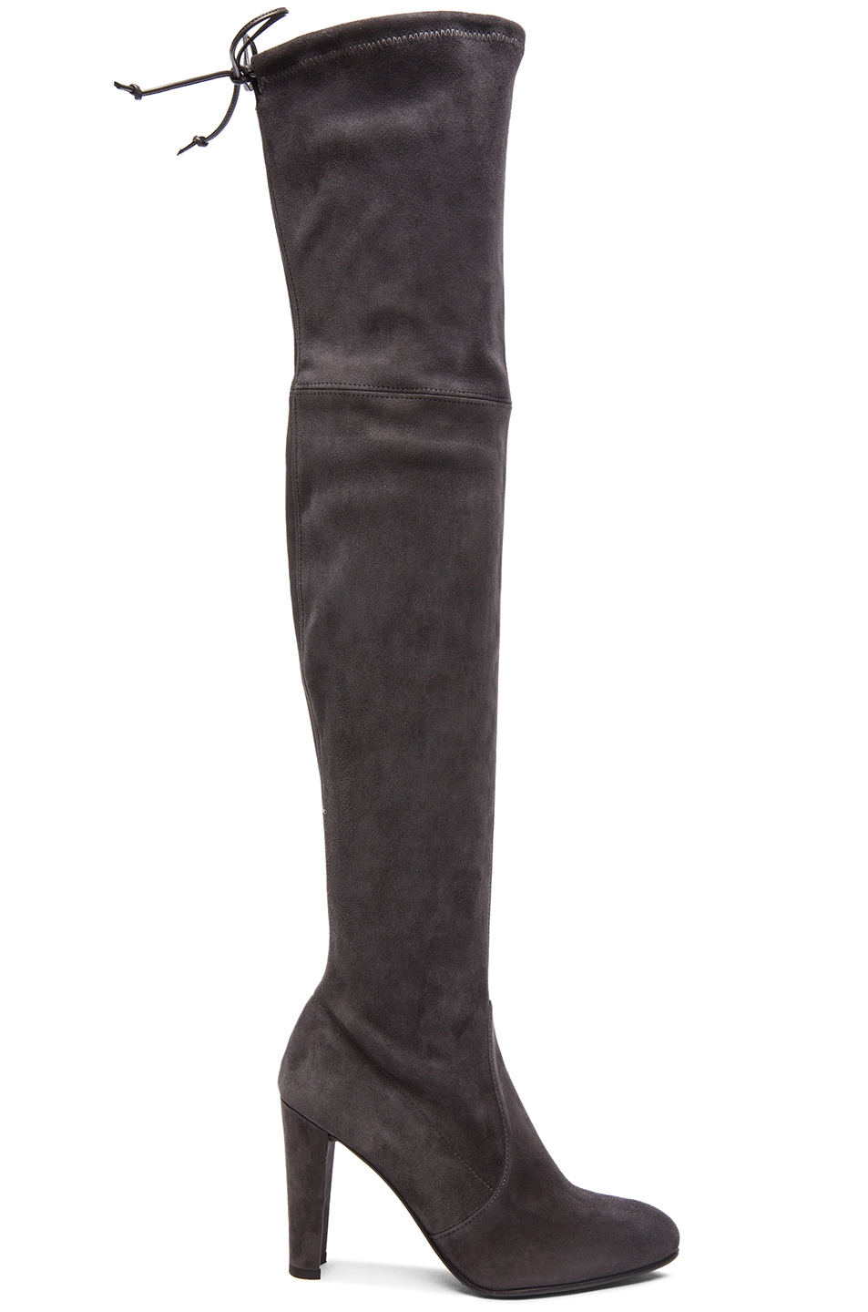Image 1 of Stuart Weitzman Highland Suede Boots in Grey Suede