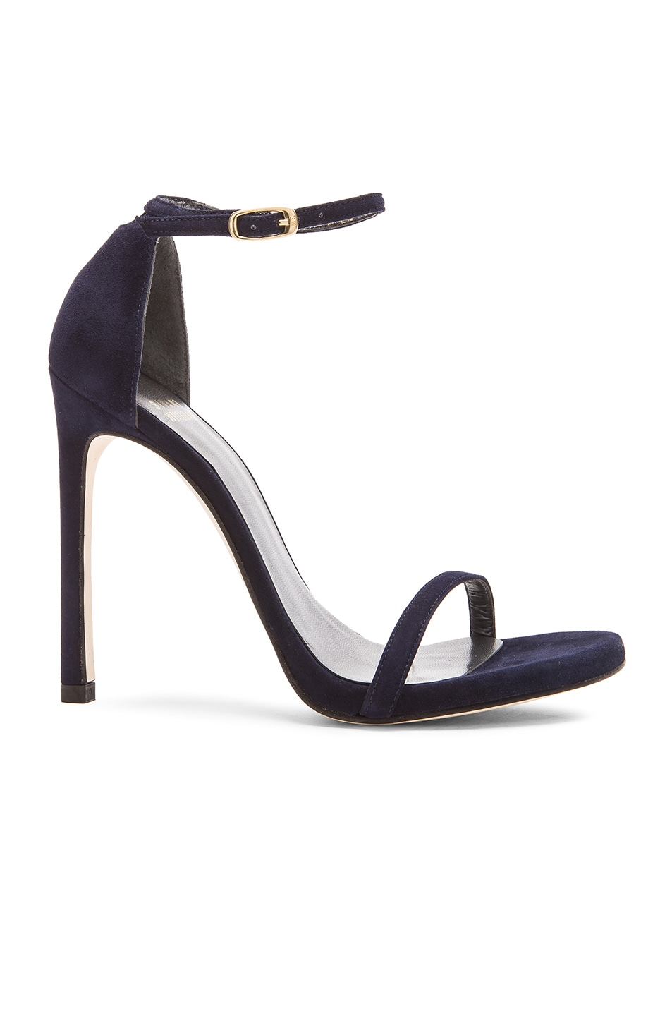 Image 1 of Stuart Weitzman Suede Nudist Heels in Nice Blue Suede