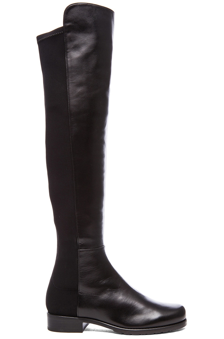 Image 1 of Stuart Weitzman 50/50 Leather & Neoprene Boots in Black