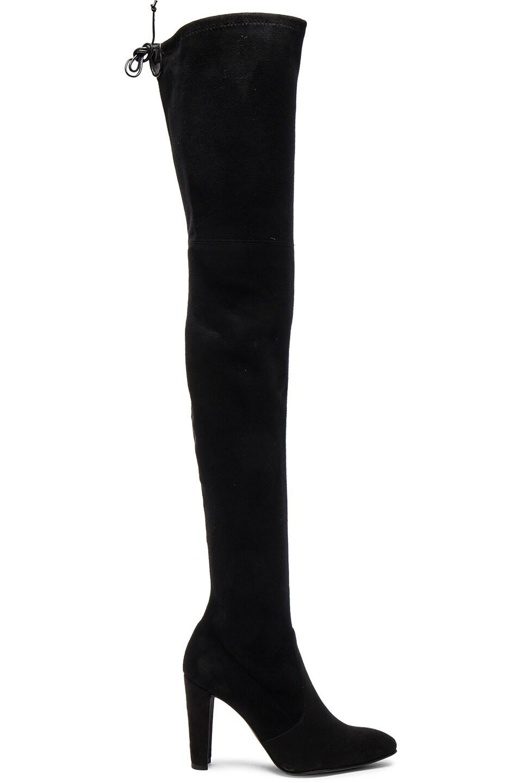 Image 1 of Stuart Weitzman Suede Alllegs Boots in Black