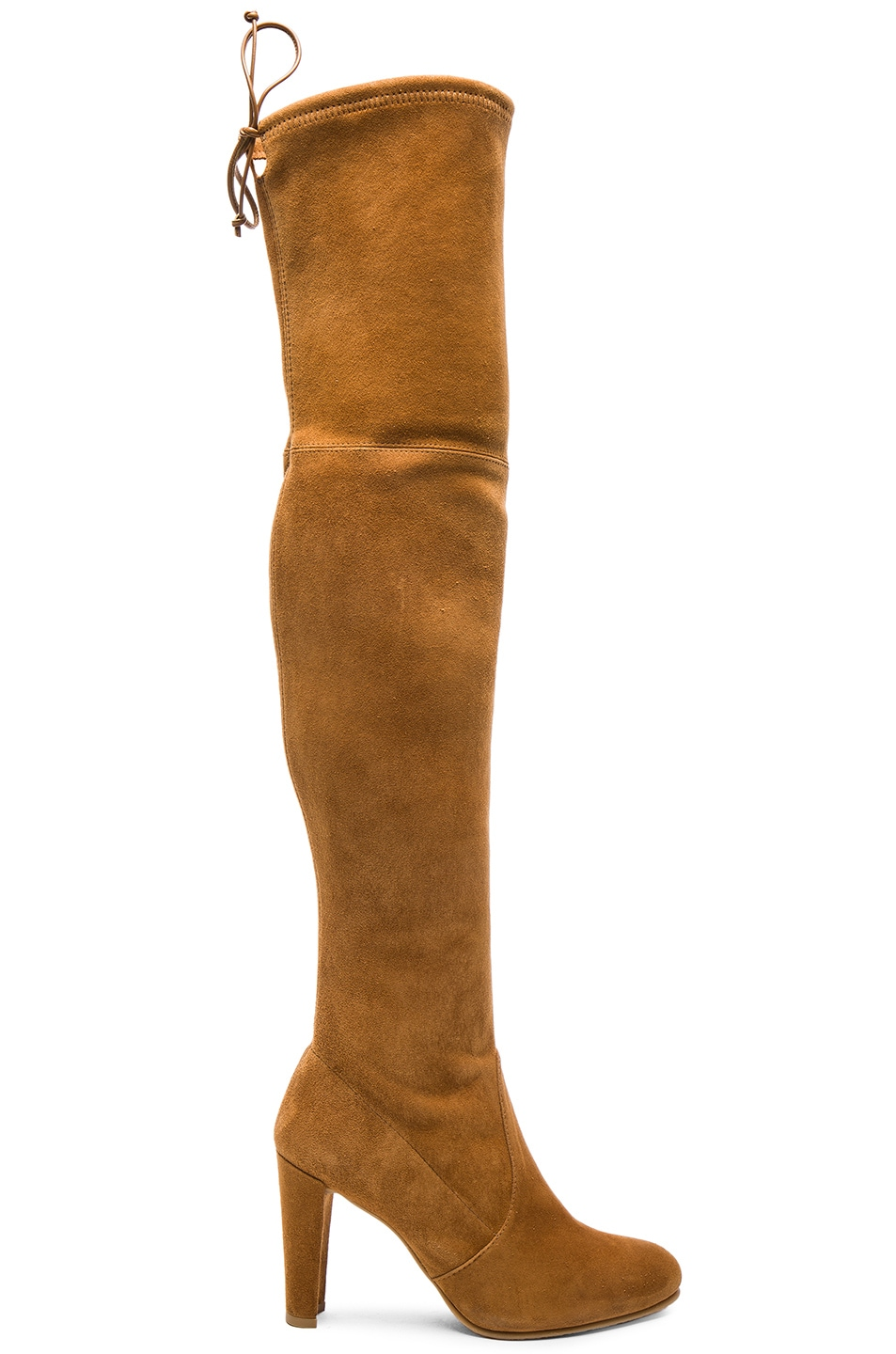 Image 1 of Stuart Weitzman Suede Highland Boots in Camel