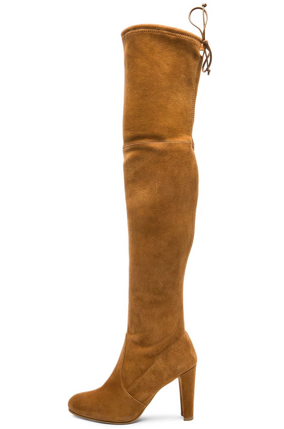Image 5 of Stuart Weitzman Suede Highland Boots in Camel