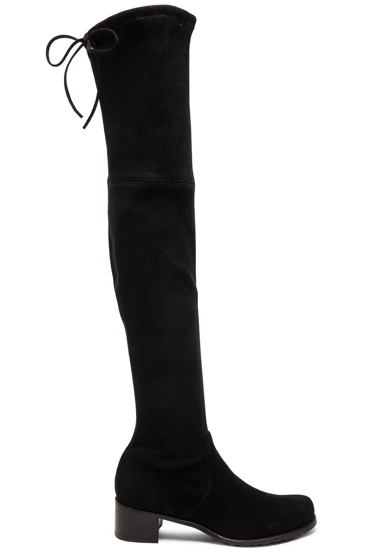 Image 1 of Stuart Weitzman Suede Midland Boots in Black