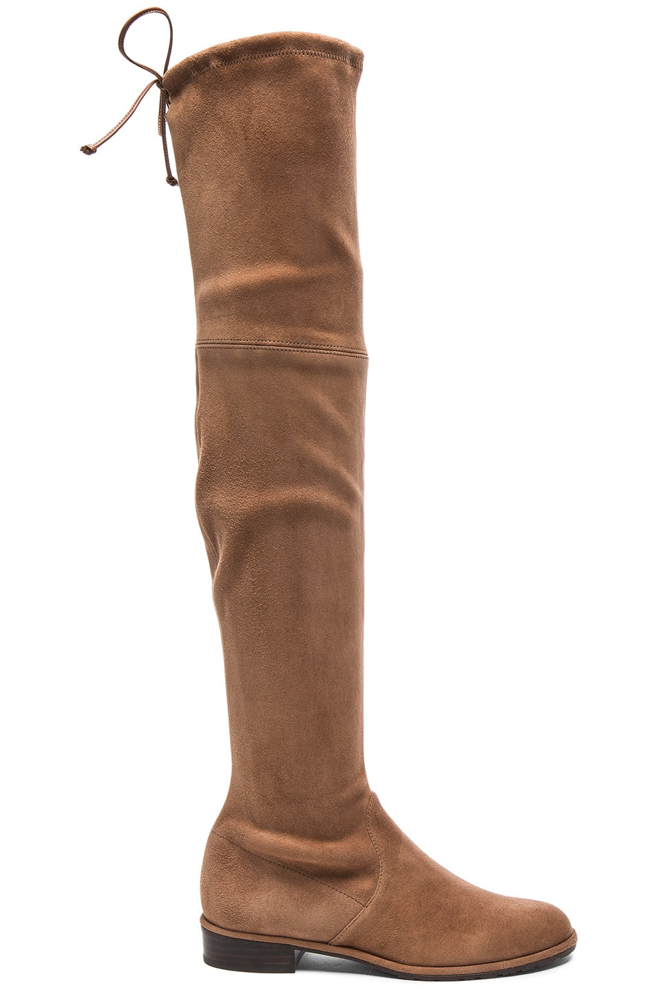 Image 1 of Stuart Weitzman Suede Lowland Boots in Nutmeg