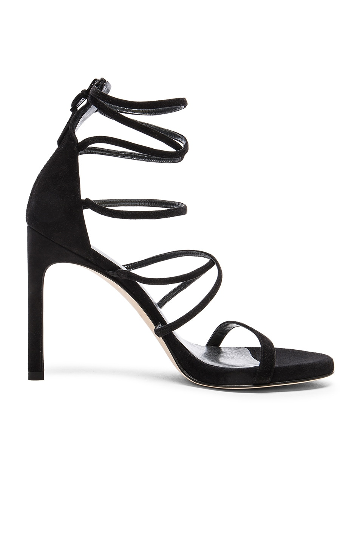 Image 1 of Stuart Weitzman Suede Myex Heels in Black