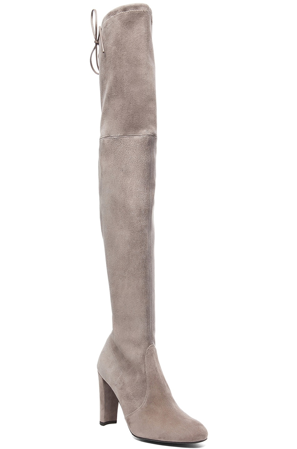 Image 2 of Stuart Weitzman Highland Suede Boots in Topo