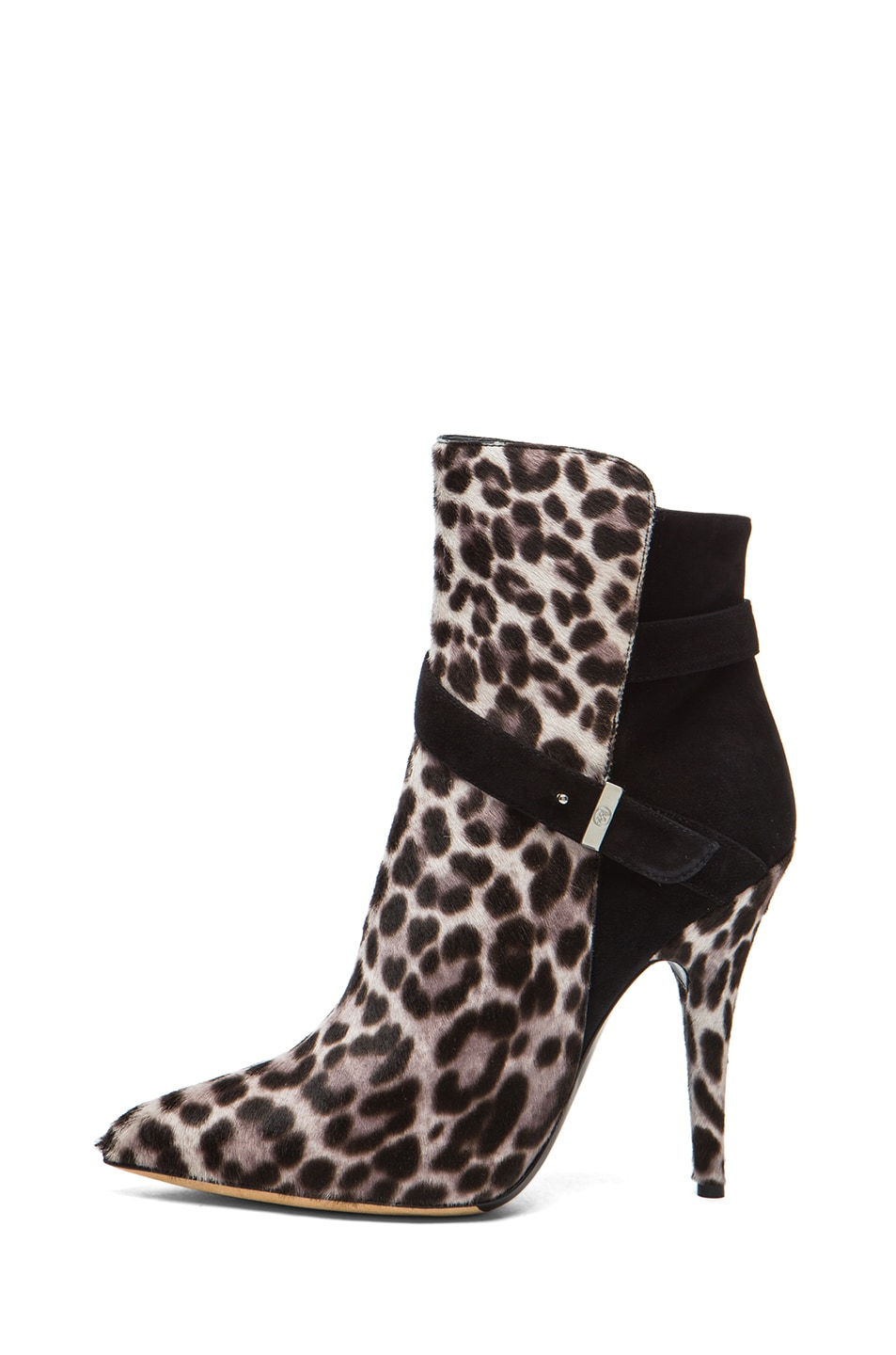 Image 1 of Tabitha Simmons Hunter Calf Hair Booties in Grey Leopard & Black