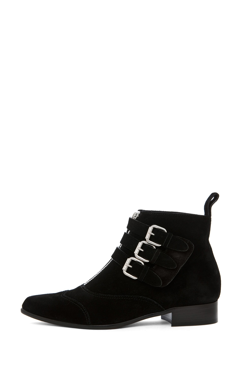 Image 1 of Tabitha Simmons Early Suede Bootie in Black