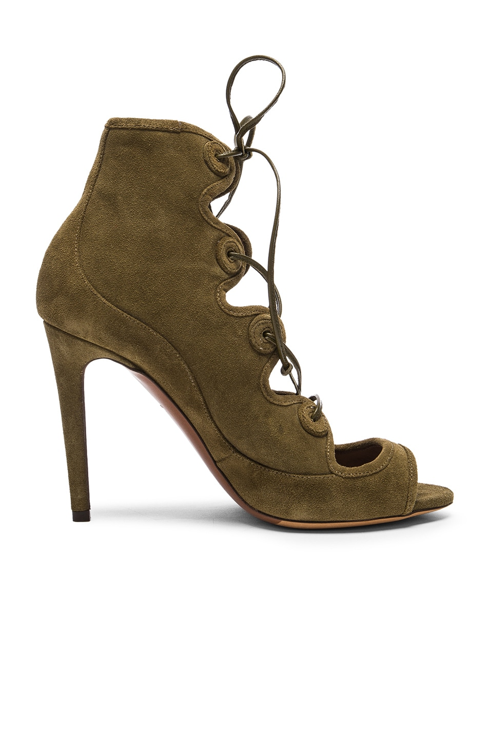 Image 1 of Tabitha Simmons Charlotte Heel in Khaki Suede