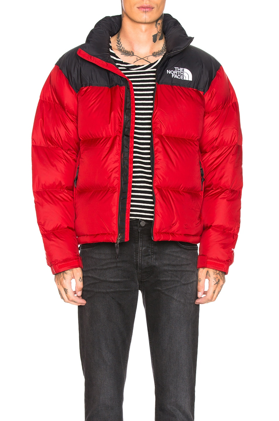 Image 1 of The North Face 1996 Retro Nuptse Jacket in TNF Red
