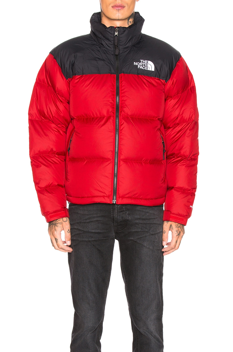 Image 2 of The North Face 1996 Retro Nuptse Jacket in TNF Red