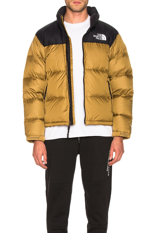 Image 2 of The North Face 1996 Retro Nuptse Jacket in British Khaki