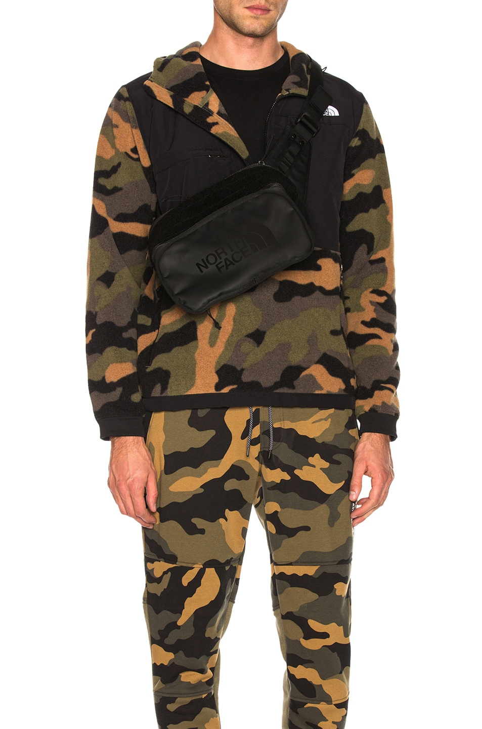 Image 1 of The North Face Denali Anorak in Burnt Olive Green Woods Camo Print
