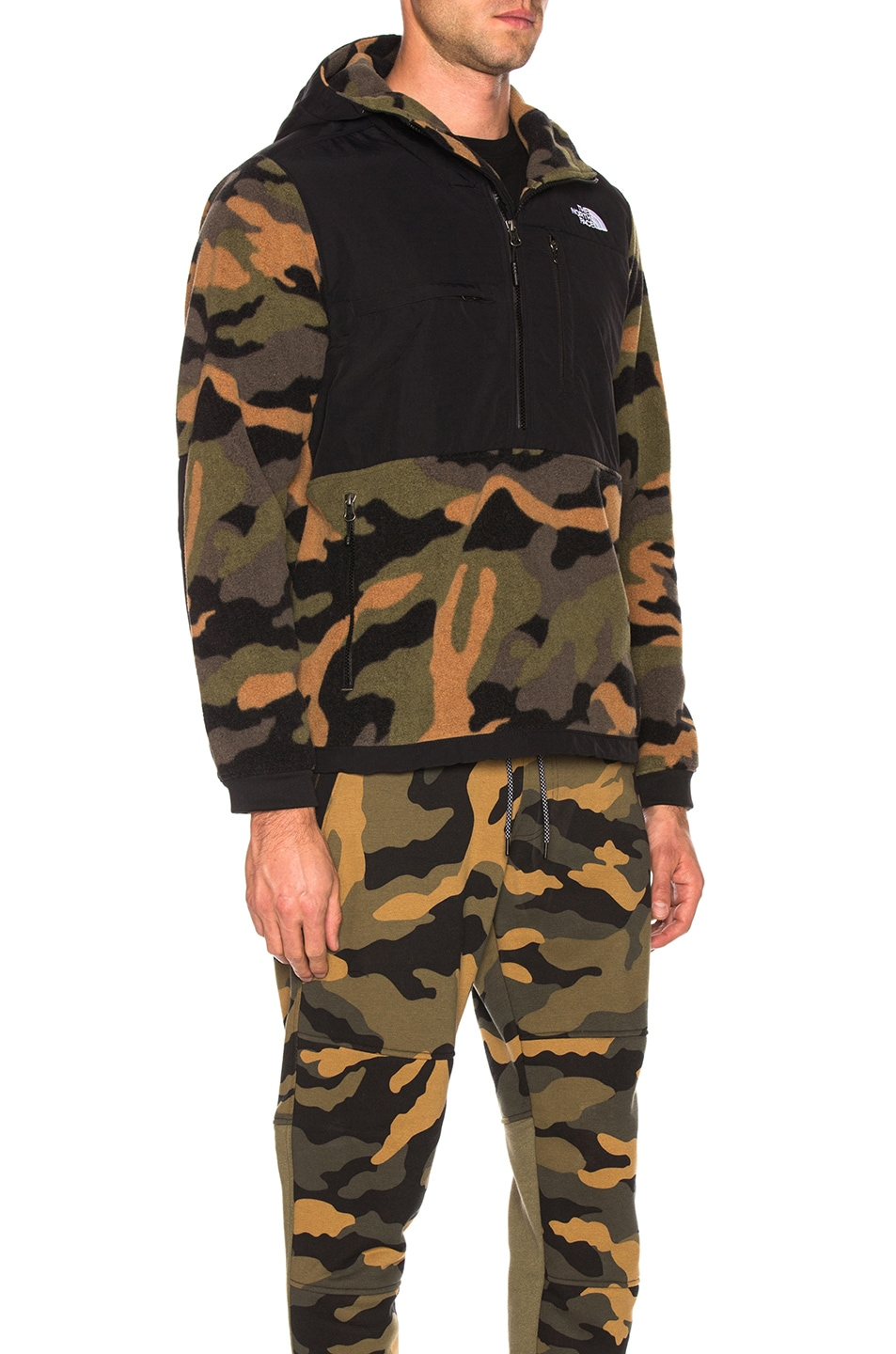 Image 3 of The North Face Denali Anorak in Burnt Olive Green Woods Camo Print