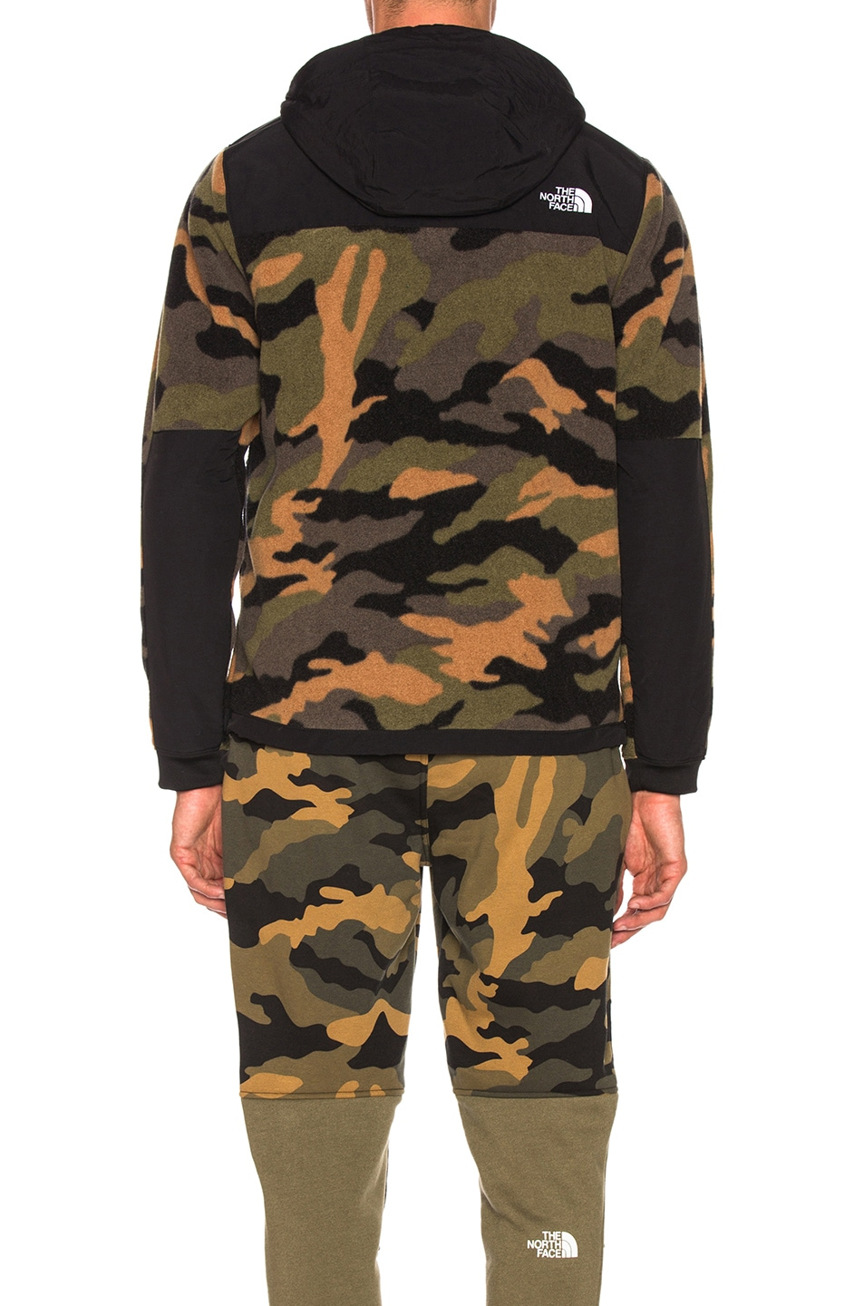 Image 4 of The North Face Denali Anorak in Burnt Olive Green Woods Camo Print