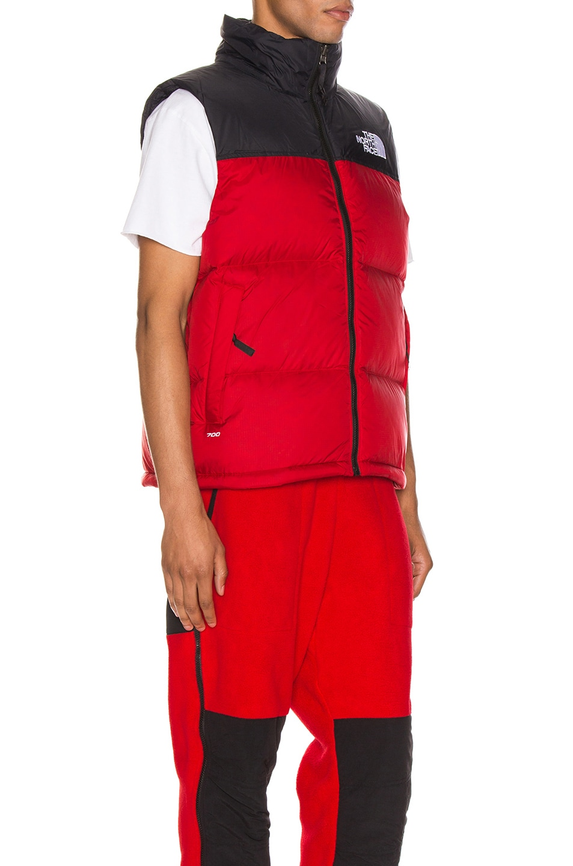 Image 3 of The North Face 1996 Retro Nuptse Vest in TNF Red
