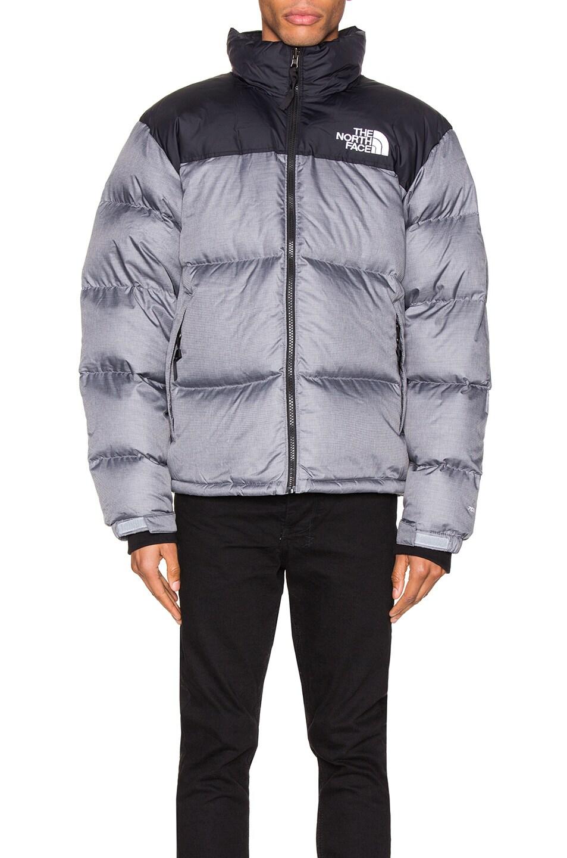 Image 2 of The North Face 1996 Retro Nuptse Jacket in TNF Medium Grey Heather