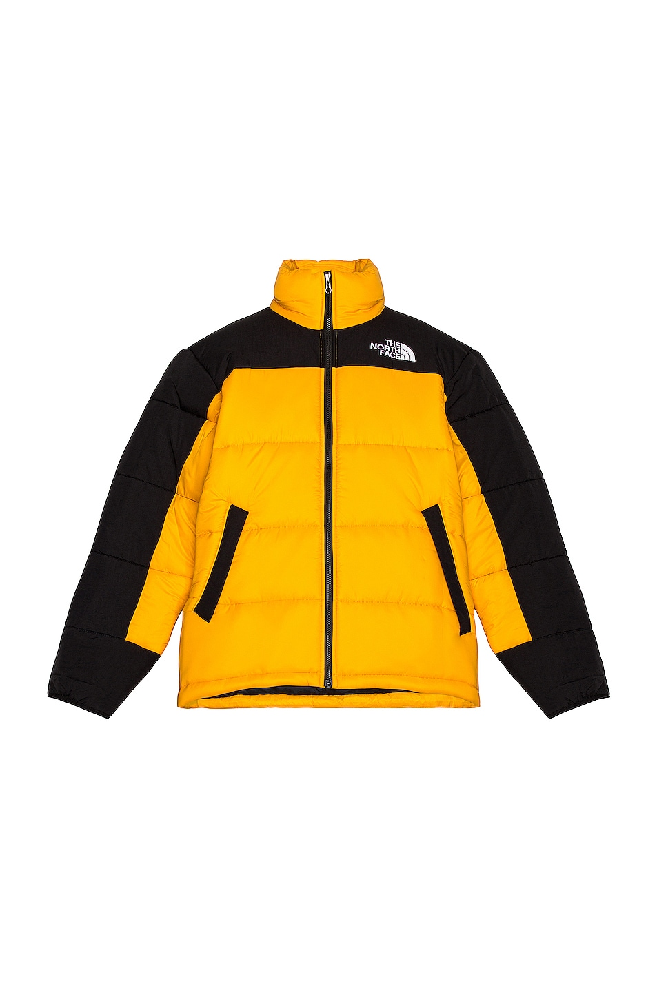 Image 1 of The North Face HMLYN Insulated Jacket in Summit Gold & TNF Black