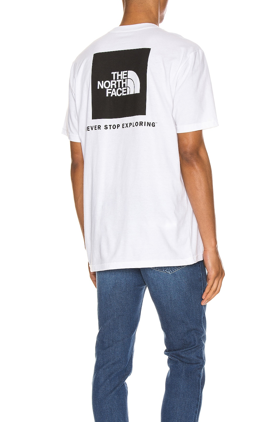 Image 1 of The North Face Red Box Tee in TNF White