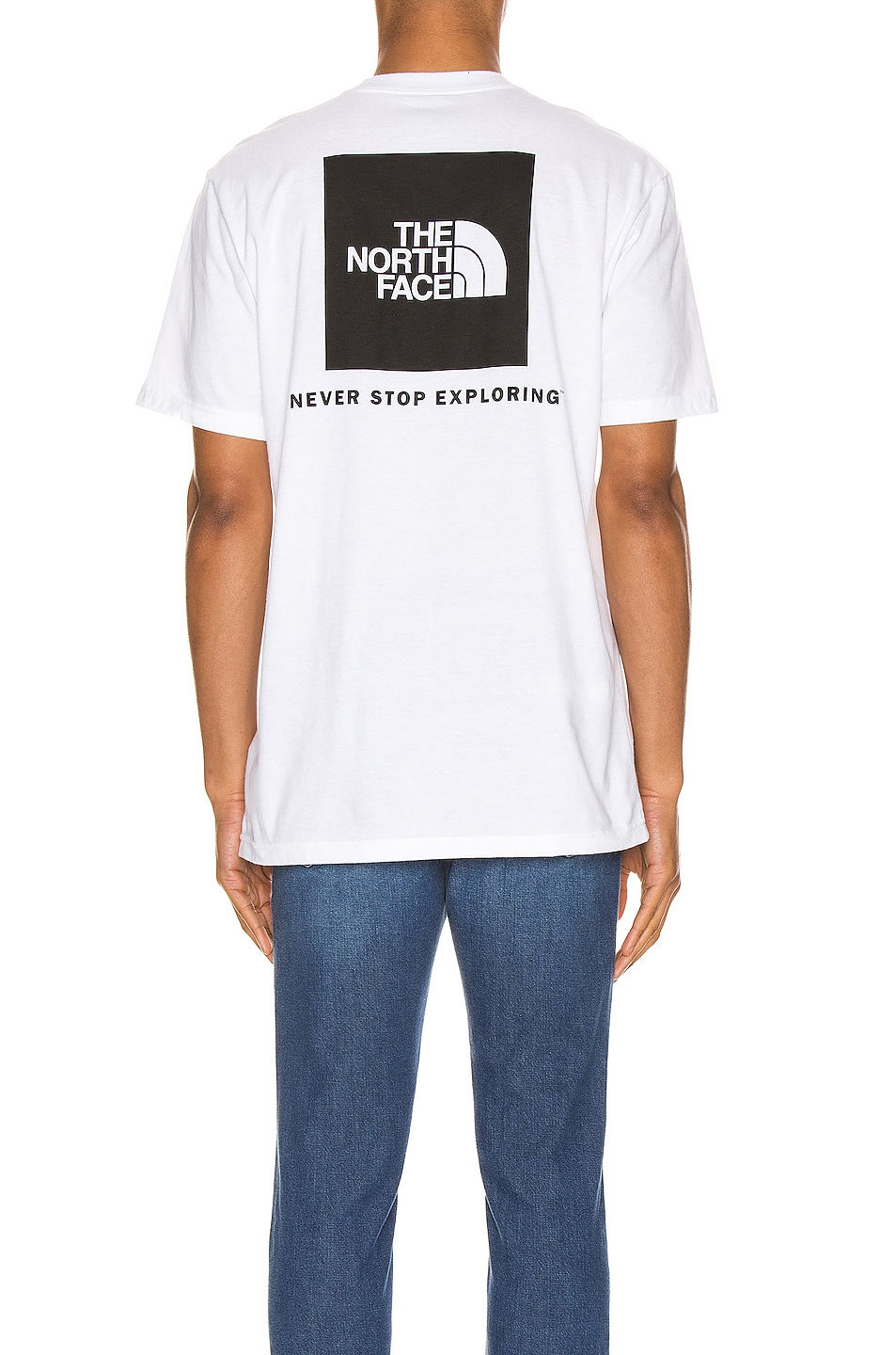 Image 4 of The North Face Red Box Tee in TNF White