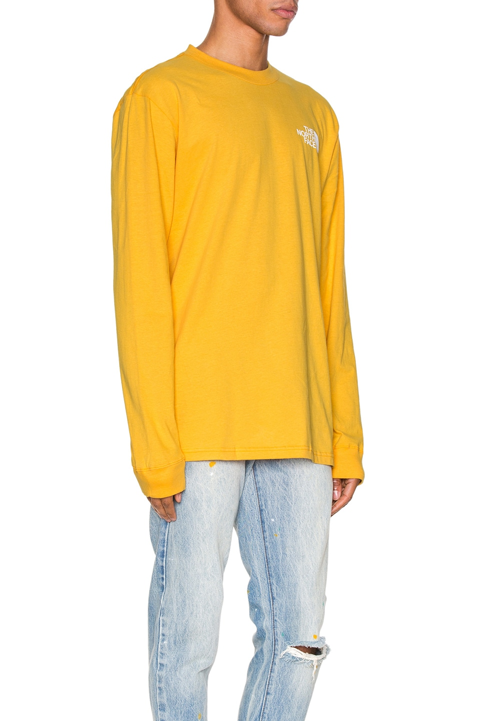 Image 3 of The North Face Long Sleeve Red Box Tee in TNF Yellow