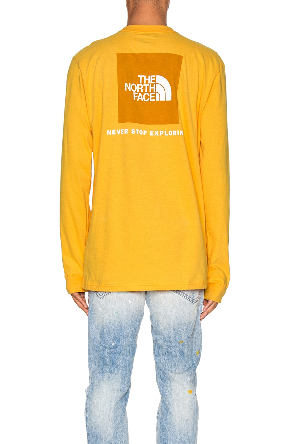 Image 4 of The North Face Long Sleeve Red Box Tee in TNF Yellow