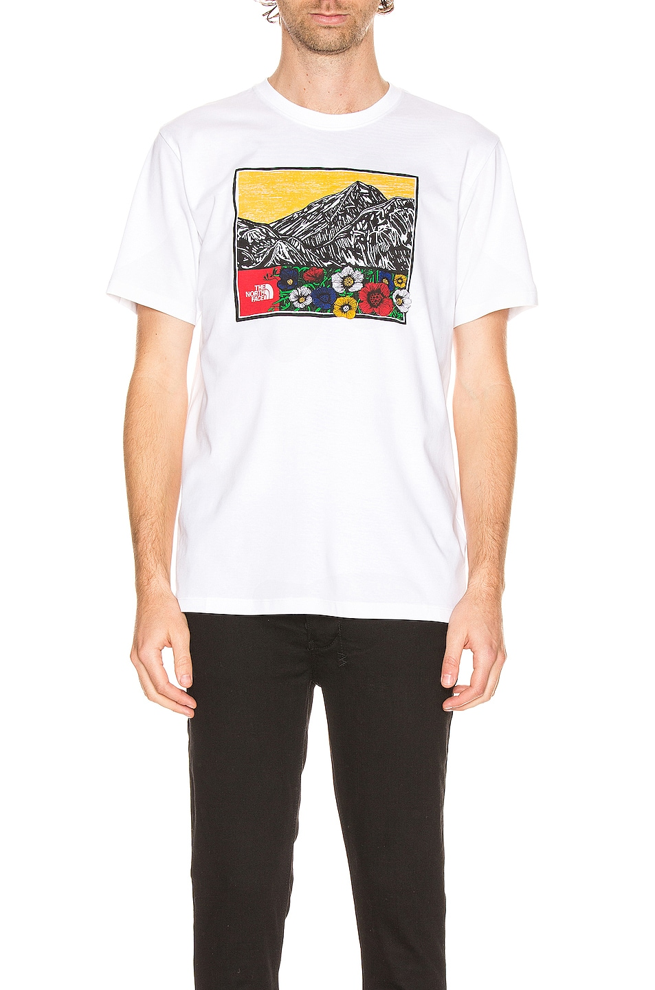 Image 1 of The North Face Short Sleeve Himalayan Source Tee in TNF White