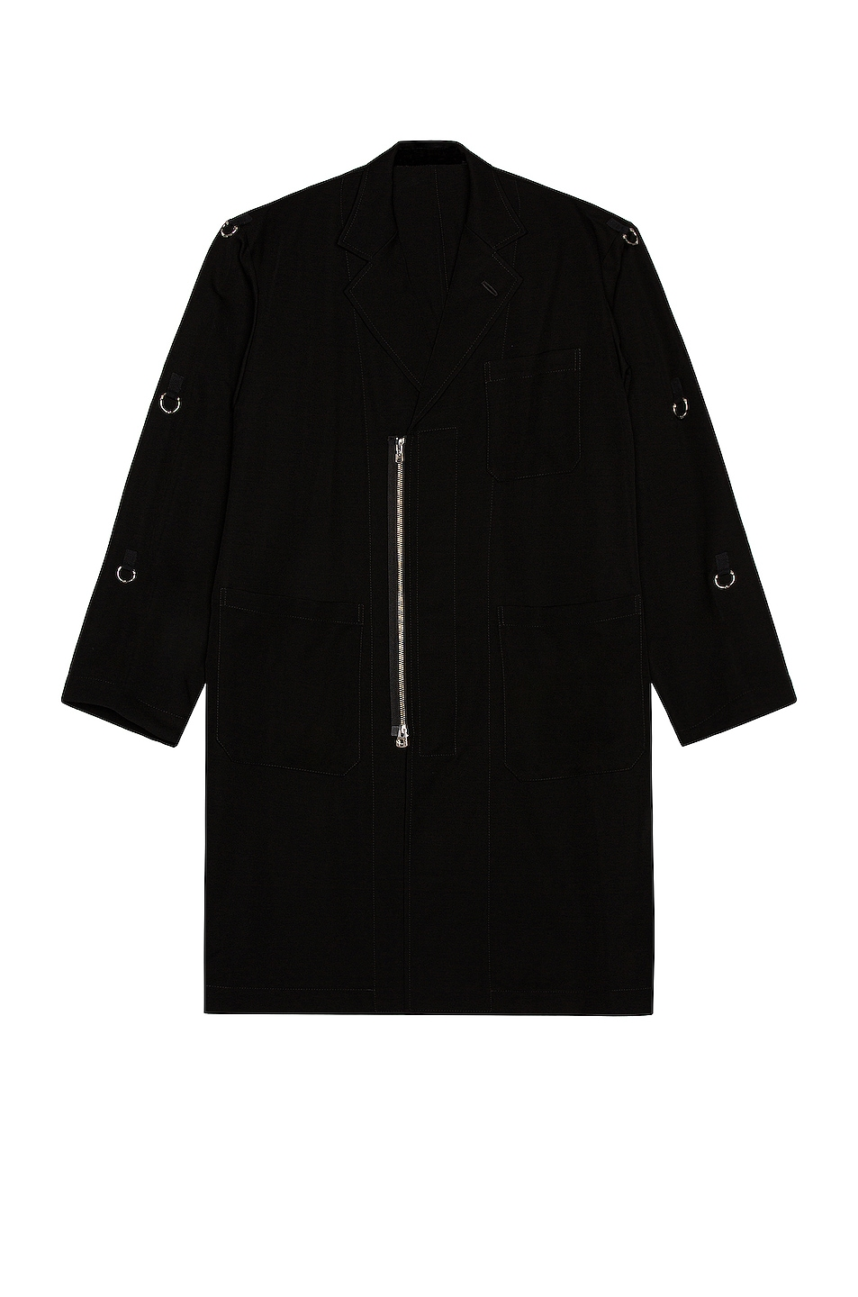Image 1 of TAKAHIROMIYASHITA The Soloist Doctor Jacket in Black